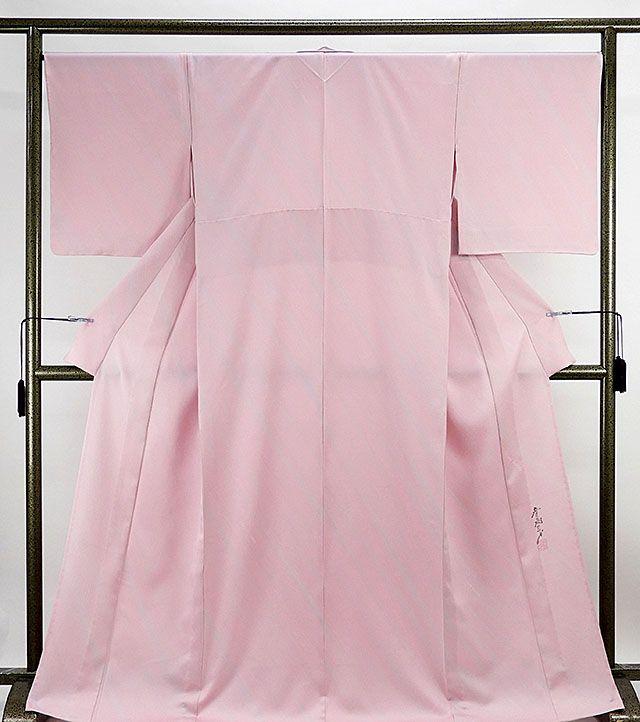 単衣 色無地新品仕立済 正絹 単衣 染色作家 斉藤三才作 色無地 新品 仕立て上がり 着物