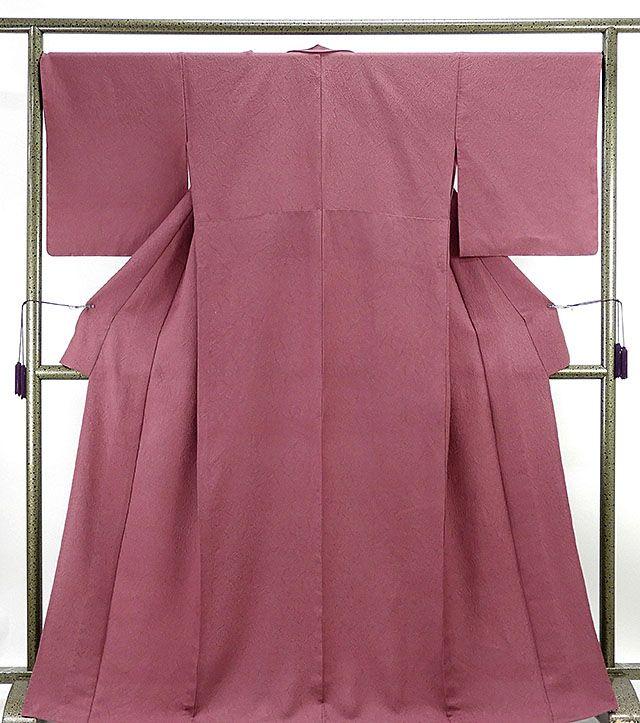 単衣 色無地新品仕立済 正絹 単衣 幾何地紋 色無地 新品 仕立て上がり 着物