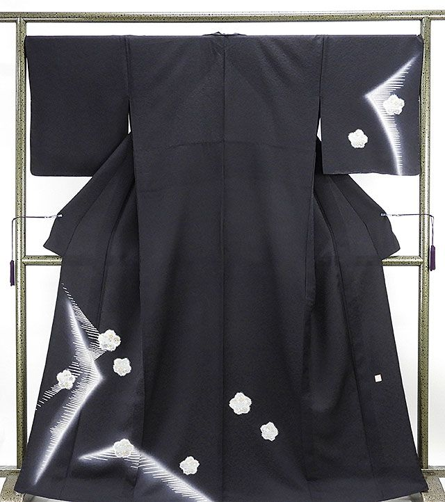単衣 訪問着 新品仕立済 正絹 単衣 桜幾何模様 訪問着 新品 仕立て上がり 着物