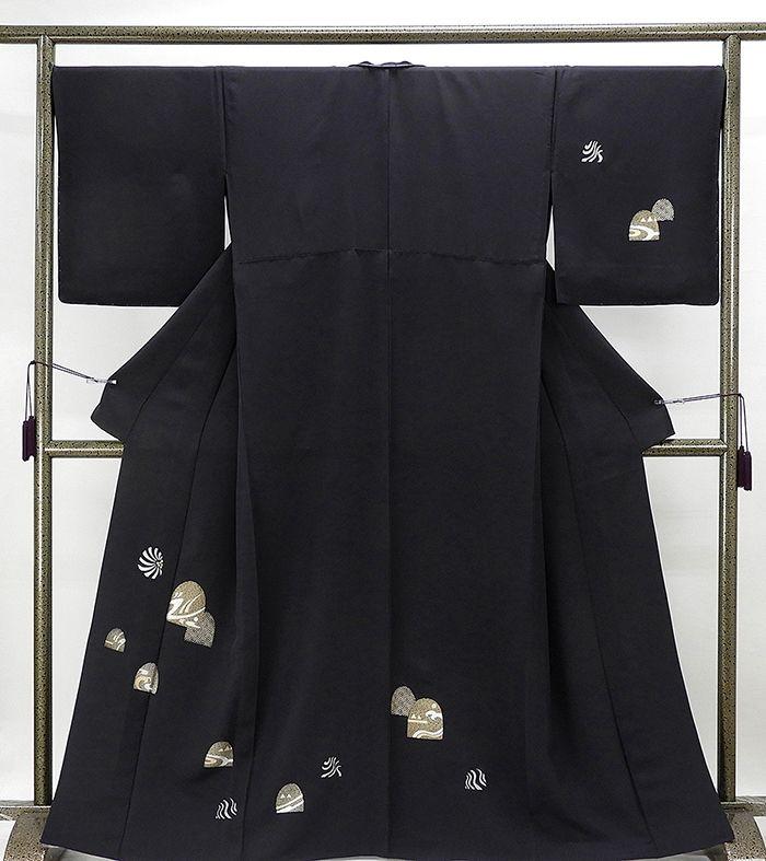 単衣 訪問着 新品仕立済 正絹 単衣 幾何模様 訪問着 新品 仕立て上がり 着物