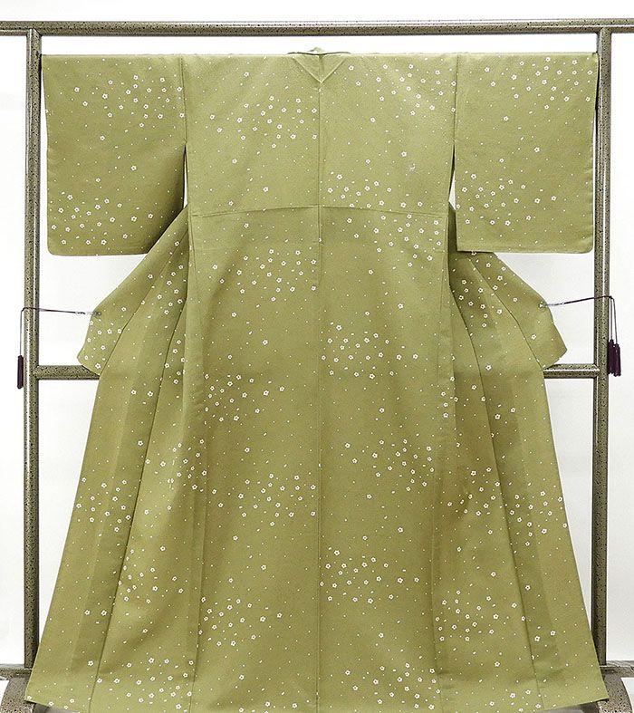 単衣 小紋 新品仕立済 正絹 小梅模様 小紋 新品 仕立て上がり 着物