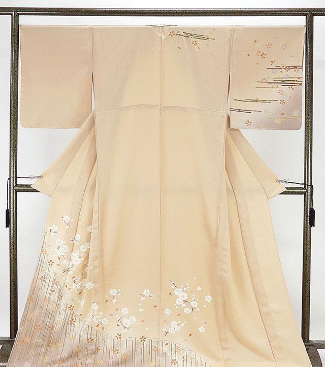 単衣 訪問着 新品仕立済 正絹 単衣 桜模様 訪問着 新品 仕立て上がり 着物