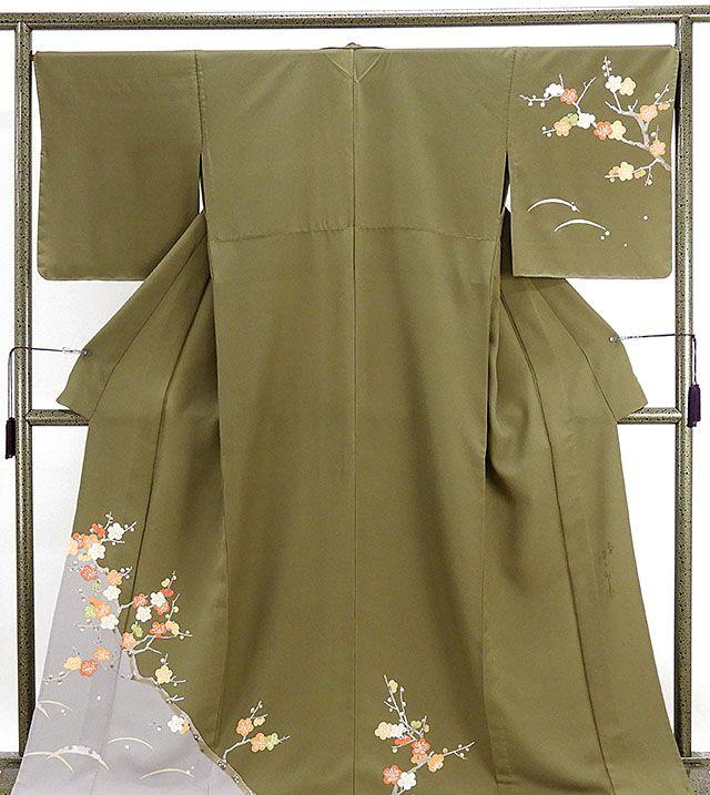 単衣 訪問着 新品仕立済 正絹 単衣 染色作家 二代目清次郎作 訪問着 新品 仕立て上がり 着物