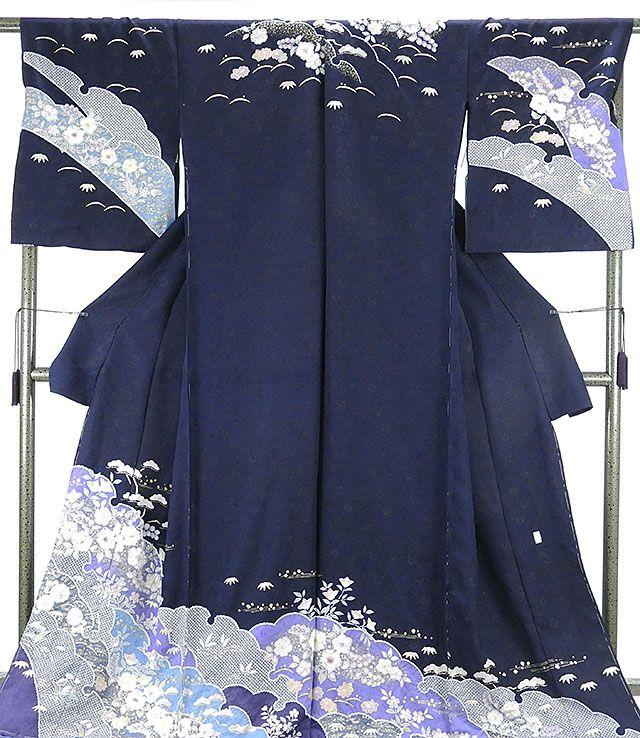 訪問着 新品仕立付き 正絹 桐屋翠山工房 絞り辻が花 訪問着 新品 未仕立 フルオーダー 誂え仕立て 着物