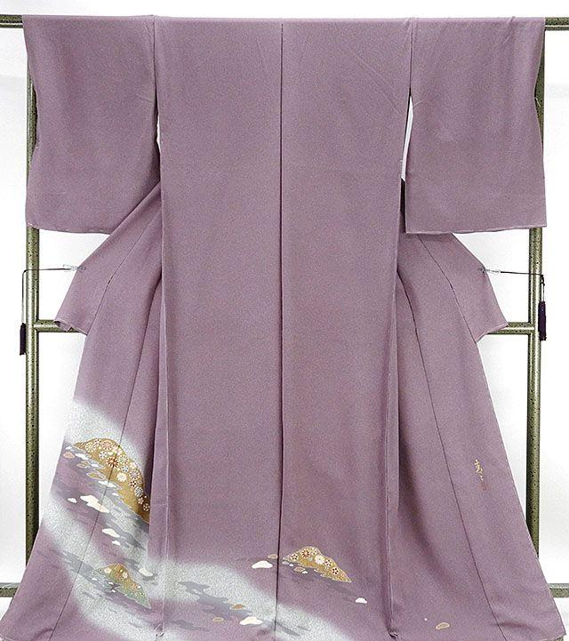 色留袖 新品仕立付き 正絹 京友禅作家 松井青々作 色留袖 新品 未仕立 フルオーダー 誂え仕立て 着物