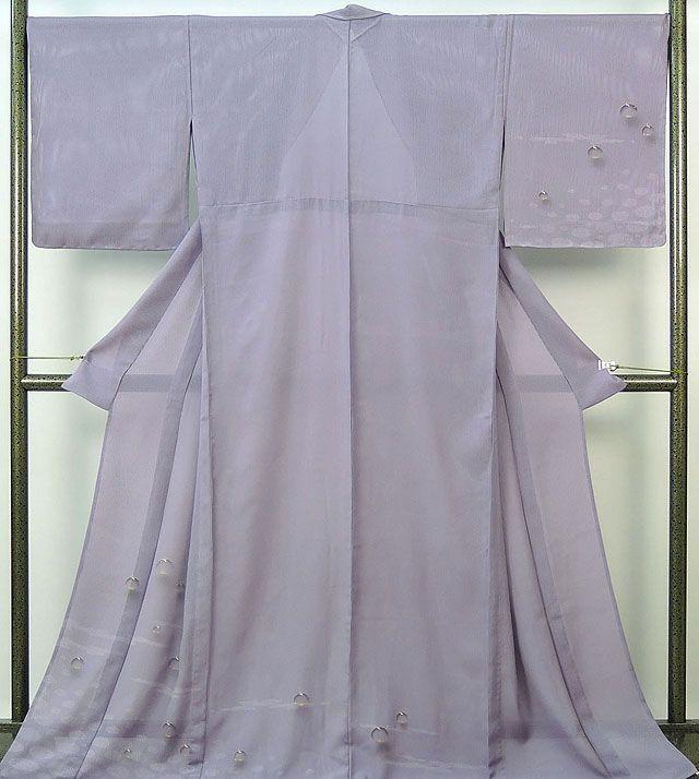 夏物 訪問着 新品仕立済 正絹 夏物 水玉小花模様 縦絽訪問着 新品 仕立て上がり 着物