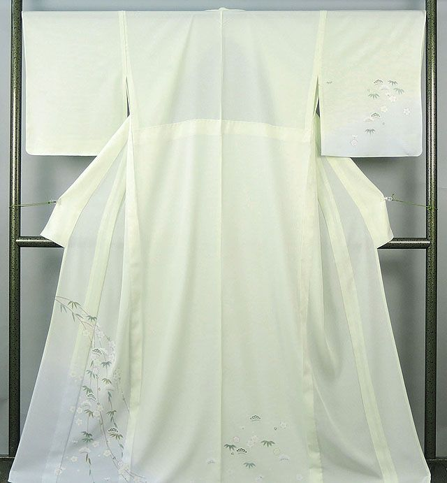 夏物 訪問着 新品仕立済 正絹 夏物 松竹梅模様 絽訪問着 新品 仕立て上がり 着物
