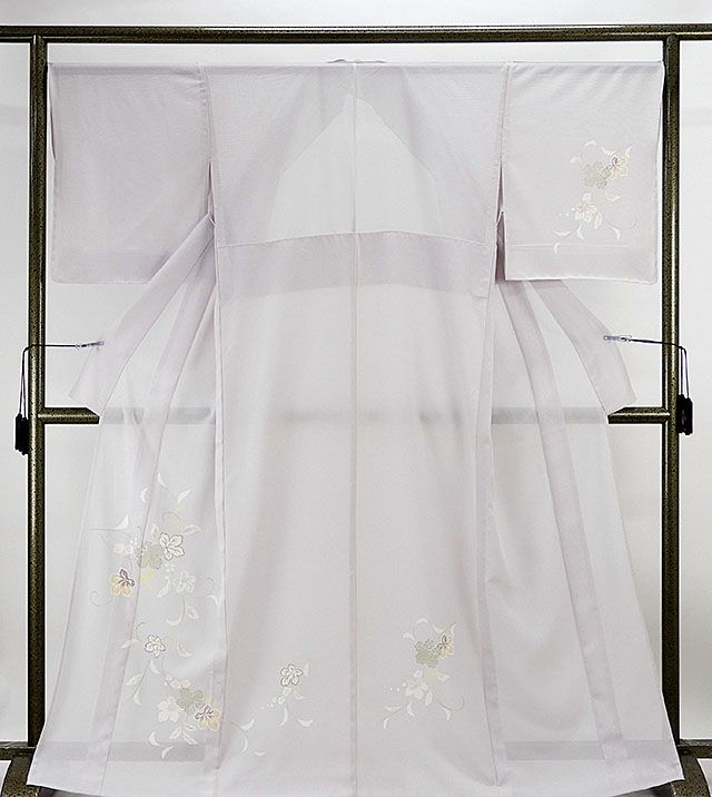 夏物 訪問着 新品仕立済 正絹 夏物 匹田葡萄模様 絽訪問着 新品 仕立て上がり 着物
