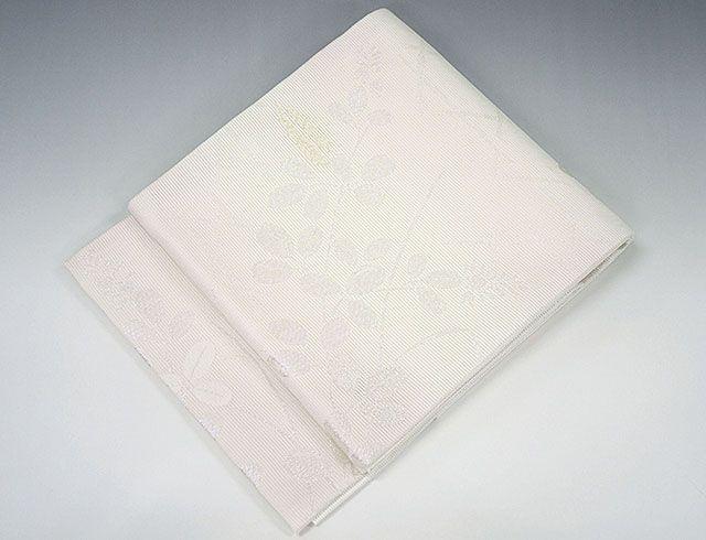 (夏物)(袋帯)新品仕立済 正絹 夏物[京都イシハラ謹製]萩模様 袋帯(新品)(仕立て上がり)