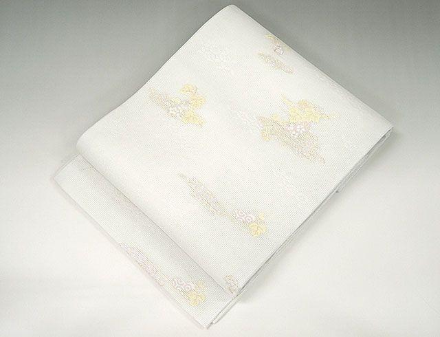 夏物 袋帯 新品仕立済 正絹 夏物 京都イシハラ謹製 七宝瓢箪模様 袋帯 新品 仕立て上がり