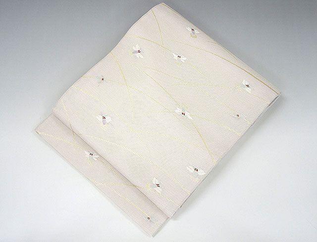 夏物 袋帯 新品仕立済 正絹 夏物 京都イシハラ謹製 蛍模様 袋帯 新品 仕立て上がり