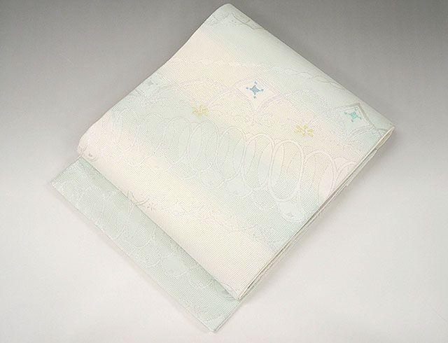 夏物 袋帯 新品仕立済 正絹 夏物 京都イシハラ謹製 アールヌーヴォ模様 袋帯 新品 仕立て上がり