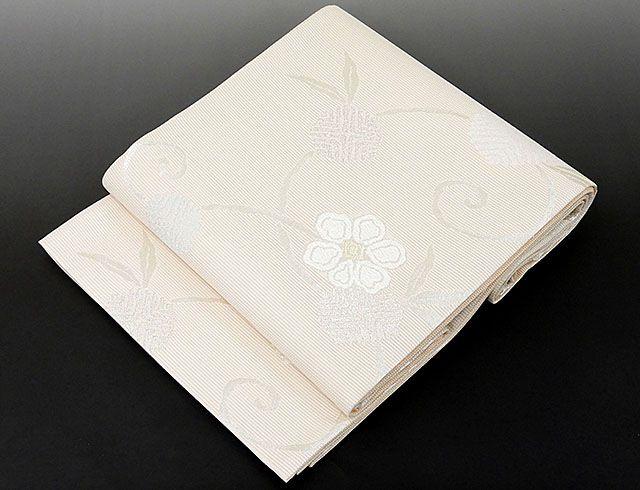 夏物 袋帯 新品仕立済 正絹 夏物 京都イシハラ謹製 草花模様 紗袋帯 新品 仕立て上がり