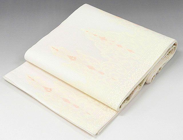 夏物 袋帯 新品仕立済 正絹 夏物 西陣 華翔苑謹製 幾何模様 袋帯 新品 仕立て上がり
