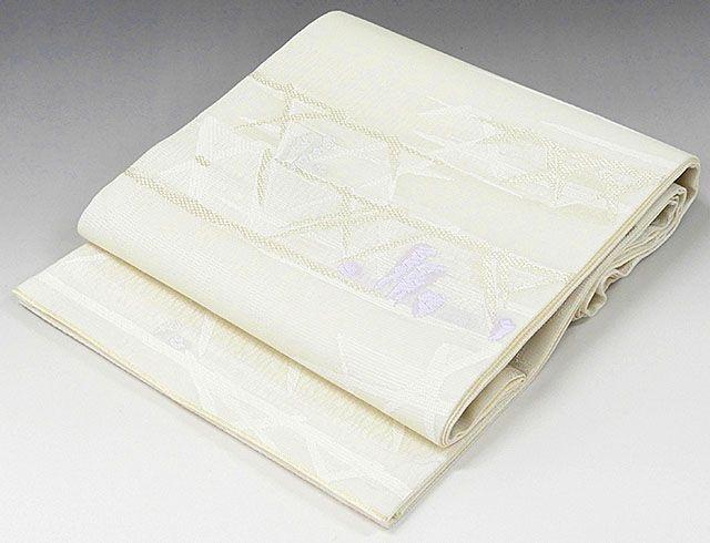 夏物 袋帯 新品仕立済 正絹 夏物 西陣 大光謹製 幾何模様 絽袋帯 新品 仕立て上がり