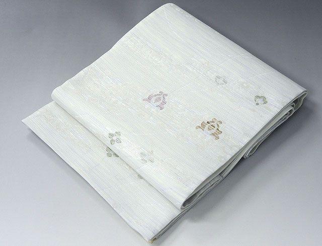 夏物 袋帯 新品仕立済 正絹 夏物 沢本織物謹製 聖涼織成帯 夏花模様 紗袋帯 新品 仕立て上がり