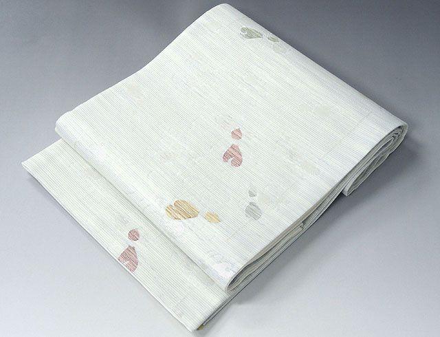夏物 袋帯 新品仕立済 正絹 夏物 沢本織物謹製 聖涼織成帯 瓢箪模様 紗袋帯 新品 仕立て上がり