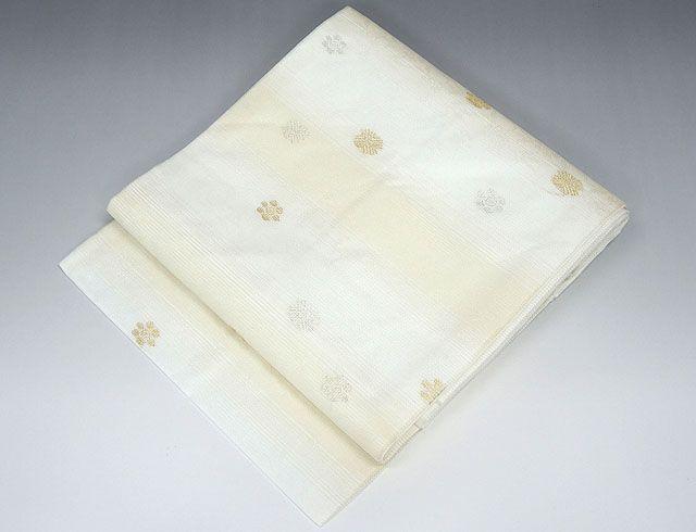 夏物 名古屋帯新品仕立済 正絹 夏物 佐々木染織謹製 小花模様 紗名古屋帯 新品 仕立て上がり