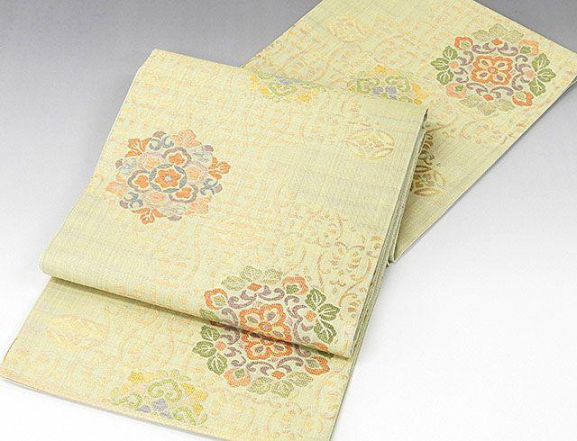 袋帯 新品仕立済 正絹 西陣 白寿苑謹製 立涌唐花華文 袋帯 新品 仕立て上がり