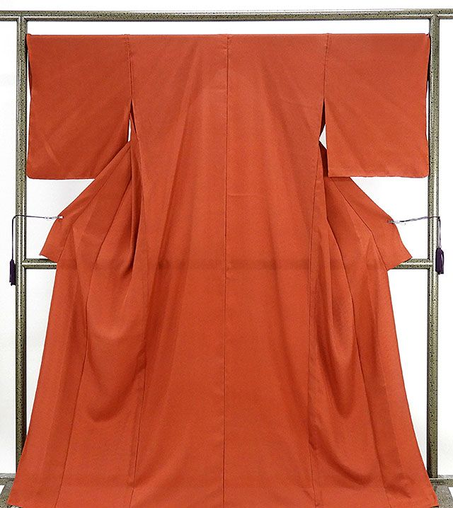 単衣 色無地 新品仕立済 正絹 単衣 鞘型地紋 色無地 新品 仕立て上がり 着物
