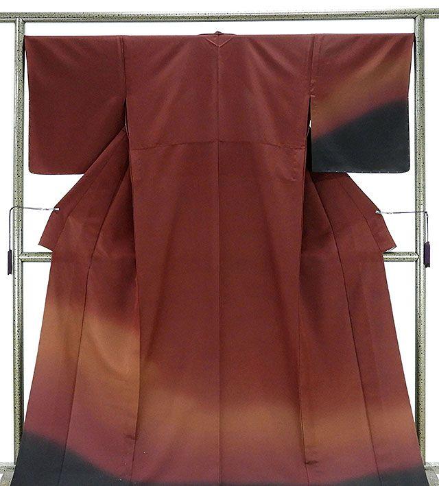 単衣 訪問着 新品仕立済 正絹 単衣 ぼかし模様 訪問着 新品 仕立て上がり 着物