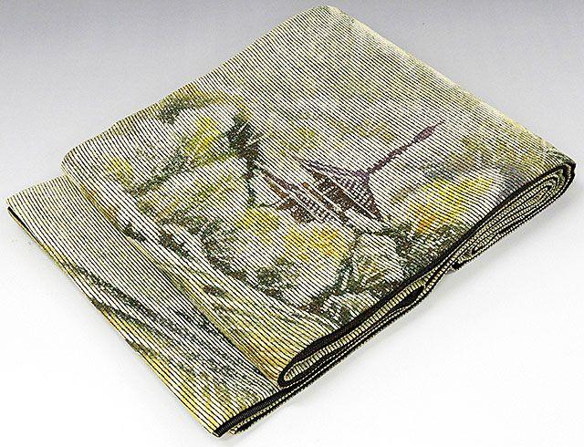 袋帯 正絹 風景模様 袋帯 美品 リサイクル