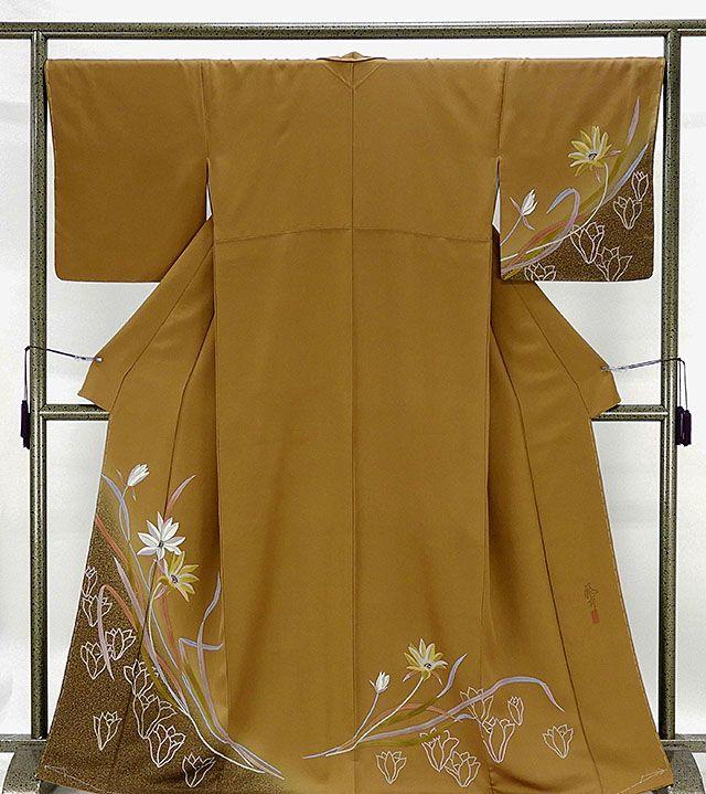 訪問着 新品仕立済 正絹 花模様 訪問着 新品 仕立て上がり 着物