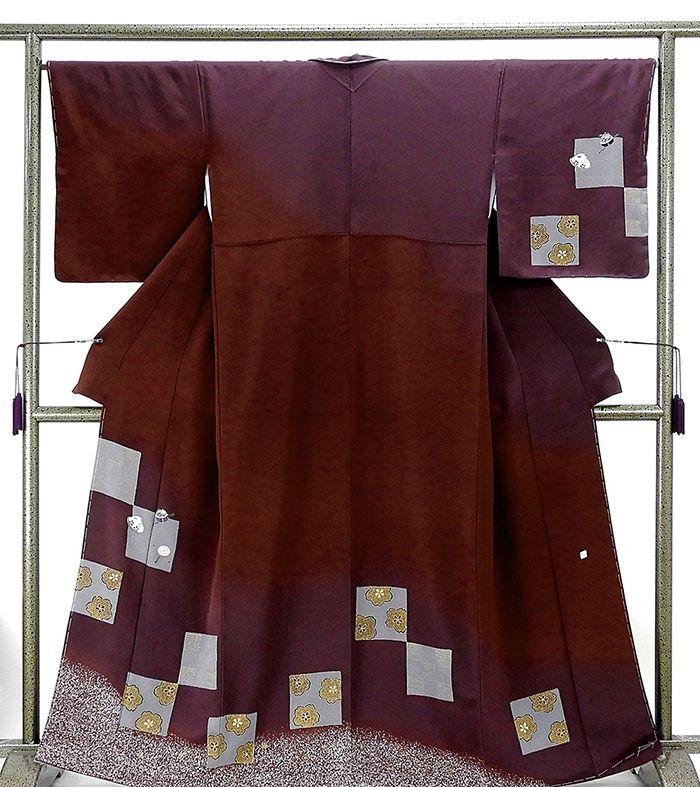 訪問着 新品仕立済 正絹 鈴玩具桜模様 訪問着 身丈161cm 裄丈66.5cm 新品) 仕立て上がり 着物