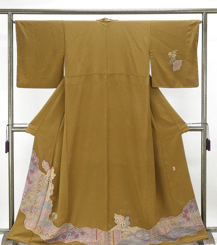 訪問着 未着用美品 正絹 桐屋翠山工房 絞り辻が花 訪問着 未使用 新古品 着物 送料無料