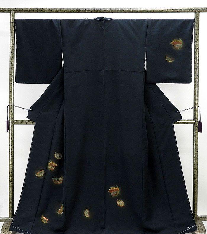 訪問着 新品仕立済 正絹 籠目稲垣模様 訪問着 身丈164.5cm 裄丈68cm 新品 仕立て上がり 着物