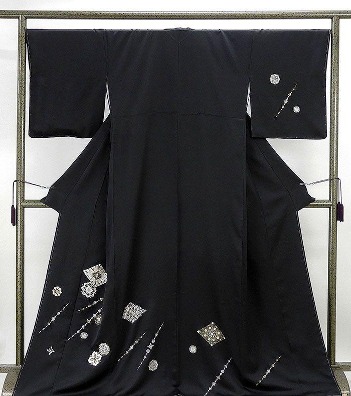 【20%OFFクーポン配布中】訪問着 新品仕立済 正絹 幾何花模様 訪問着 身丈168.5cm 裄丈68cm 新品 仕立て上がり 着物