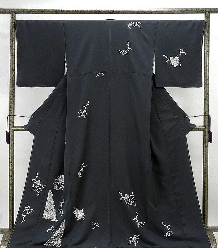 訪問着 新品仕立済 正絹 唐花模様 訪問着 身丈167.5cm 裄丈67.5cm 新品 仕立て上がり 着物