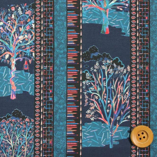 自由印刷架子貸款473(Forest Stripe福裏斯特·條紋)藍色&粉紅