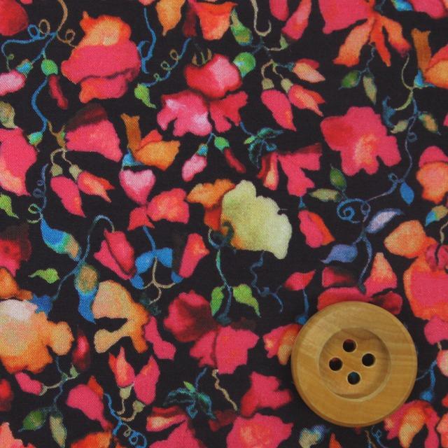 自由印刷架子貸款布料(Victoria Virginia維多利亞·弗吉尼亞)黑色&粉紅