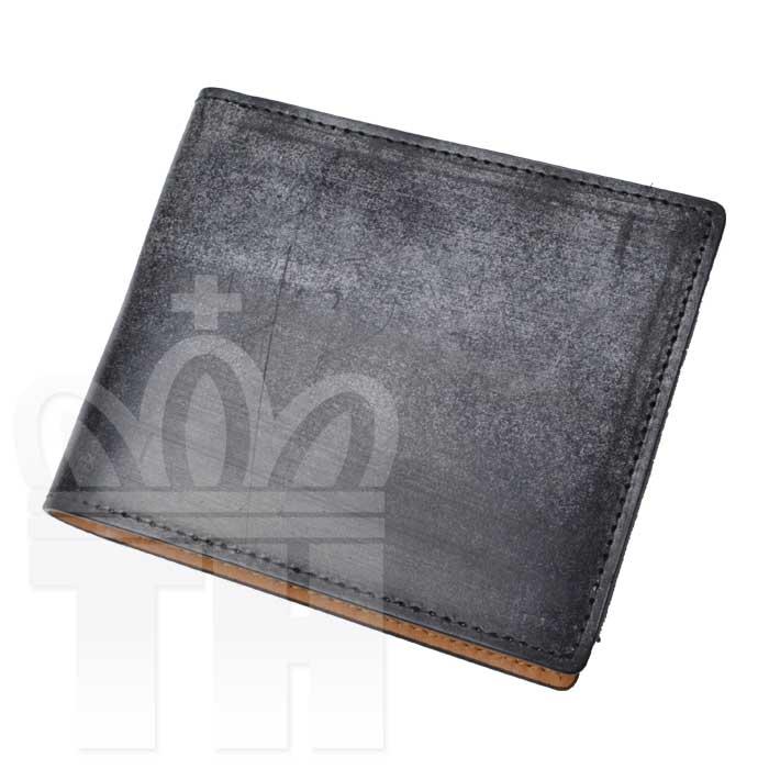 エスペラント esperanto イングランドレザー 英国 最高級レザー 財布「ブライドルレザーショートウォレット」ESP-6391 ブラック 二つ折り財布
