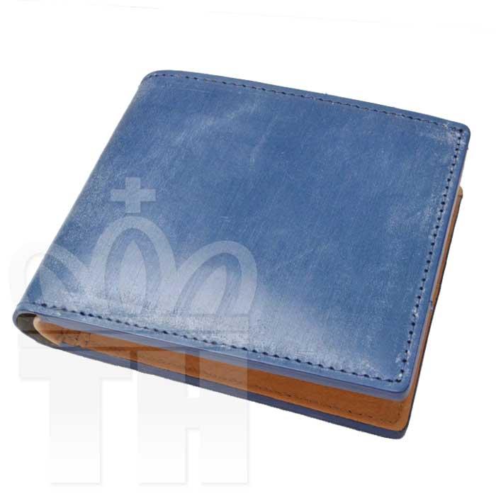 エスペラント esperanto イングランド 英国 最高級レザー財布「ブライドルレザーショートウォレット」ESP-6391 ネイビー 二つ折り財布