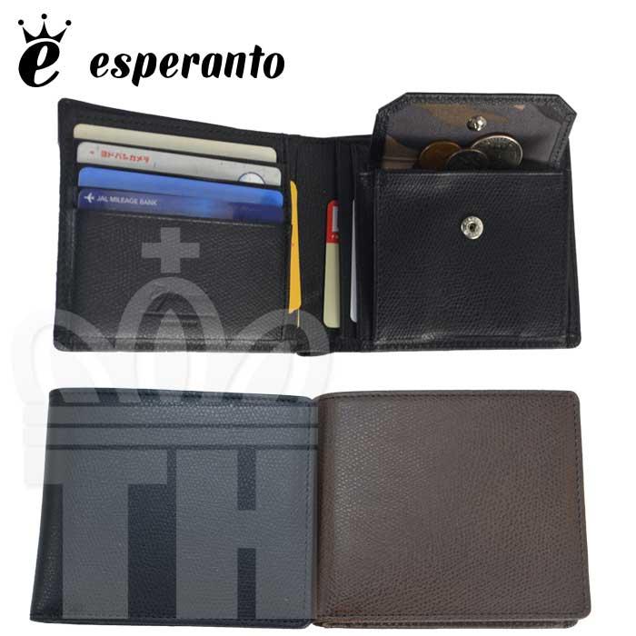エスペラント esperanto 2つ折 革財布 ジャパンレザー 日本製 財布「スティアレザー ショートウォレット」メンズ レディース ESP-6467