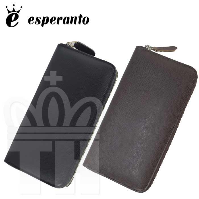 エスペラント esperanto ジャパンレザー 日本製 ファスナー 長財布「スティア レザー ラウンドジッパー ロングウォレット」メンズ レディース ESP-6469