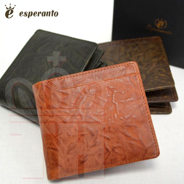 エスペラント esperanto 2つ折 革財布 エスペラントレザー ショートウォレット 日本生産 ESP-6279