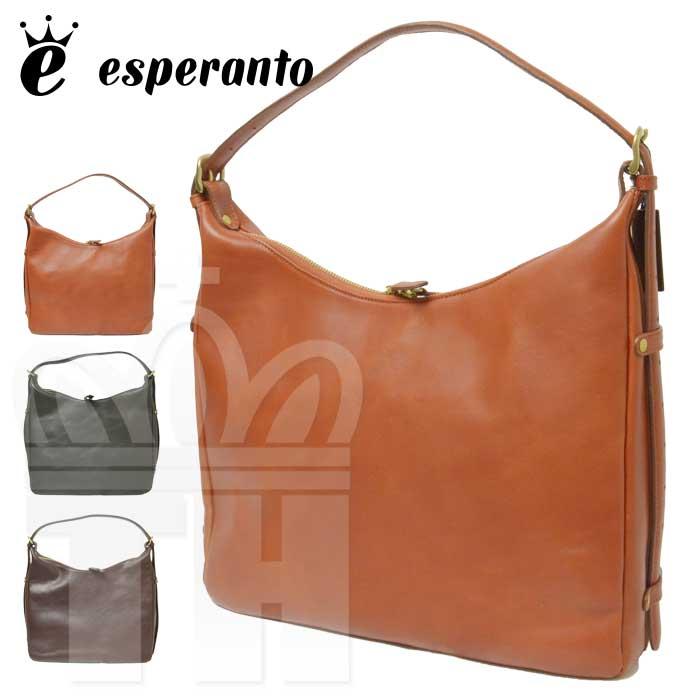 エスペラント esperanto バッグ「MONTANA ESPERANTO LEATHER 2WAY SHOULDER BAG CURVE モンタナエスペラントレザー 2ウェイ ショルダーバッグ (カーブ)」ESP-6346