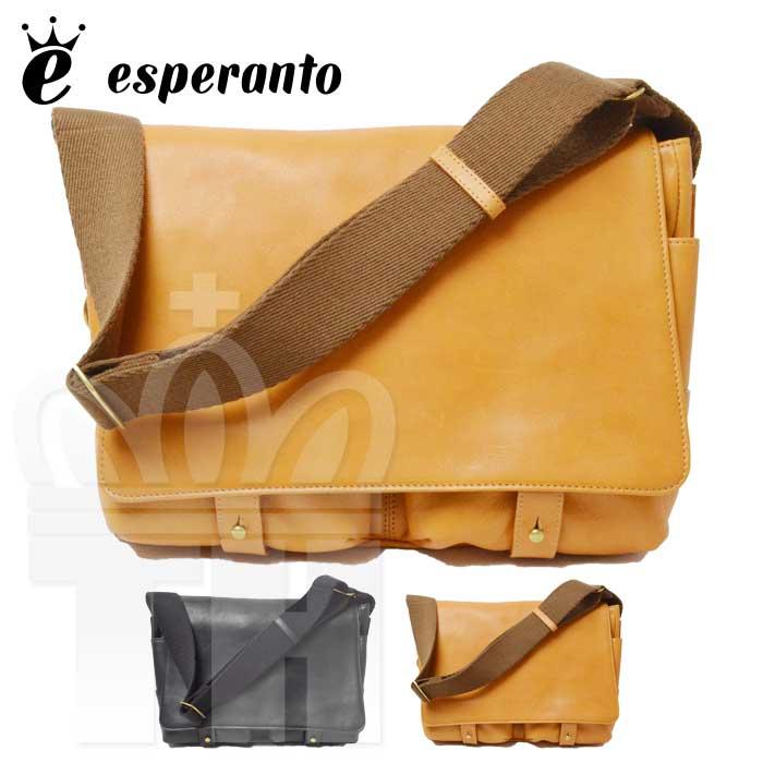 エスペラント esperanto 高品質 レザー 革 バッグ「BUGATTI SHOULDER BAG ブガッティレザー ショルダーバッグ」メンズ レディース ユニセックス 日本製 ESP-6374