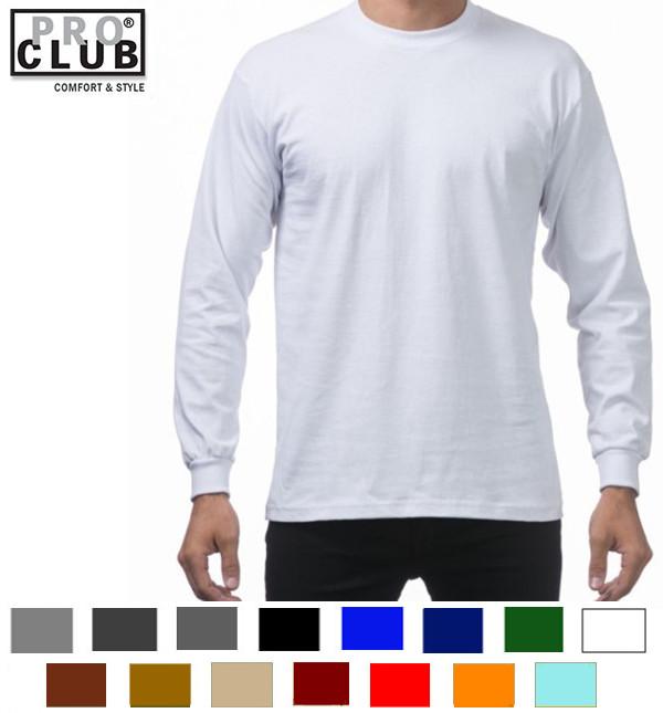 プロクラブ PRO ヘビーウエイト長袖Tシャツ:114 当店一番人気 訳あり商品 CLUB