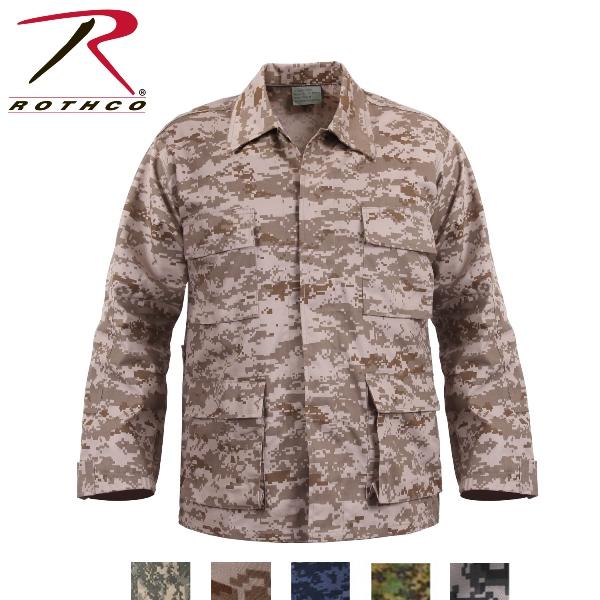 ロスコ迷彩BDUシャツジャケット/Rothco Digital Camo BDU Shirts/8695他