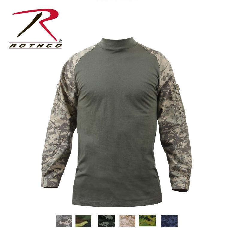 ロスコ迷彩コンバットシャツCamo Military Combat Shirt90000