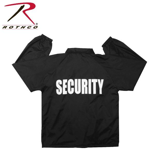 ロスコ スナップフロントナイロンジャケット セキュリティー/Rothco Coaches Jacket/Security/7648