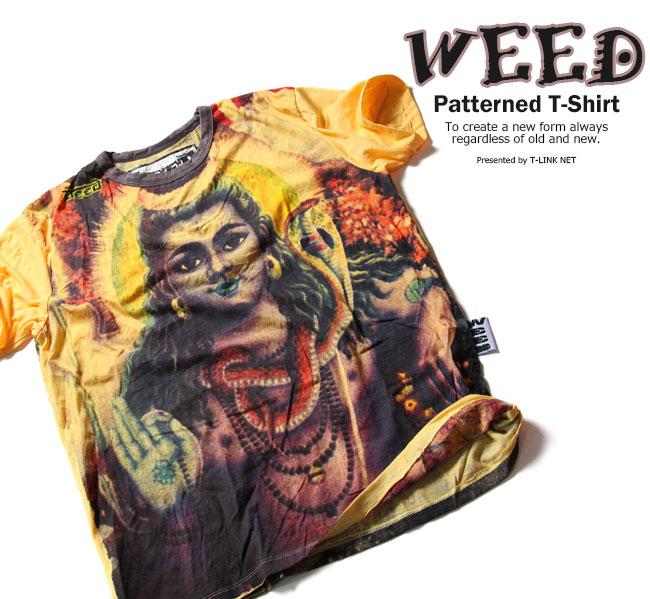 Tシャツ メンズ 和柄デザインTシャツ おしゃれTシャツ T-shirts トップス MENS シワ加工 クシャクシャ加工 くしゃくしゃ しわ加工 卓出 2020モデル 壁画 ピースマーク 夏 和柄 BUDDHA イラストTシャツ ストリート系Tシャツ weed011 和柄Tシャツ WEED 菩薩デザインTシャツ 半袖Tシャツ ユーズド風 デザインTシャツ