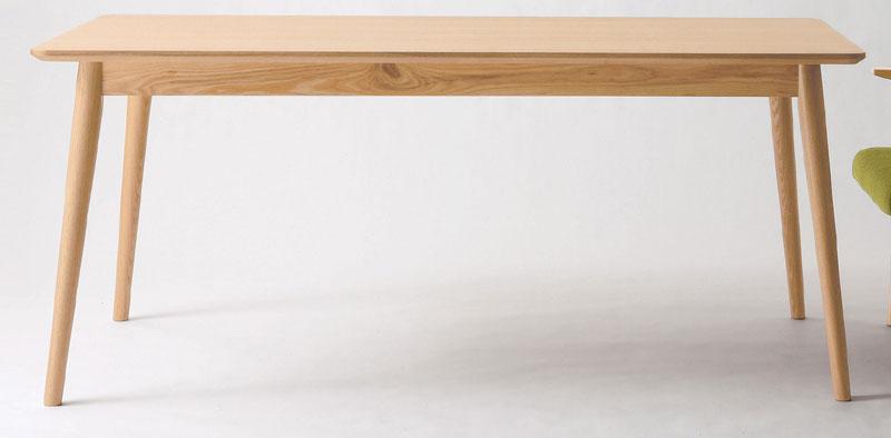 【送料無料】【即納可能】幅160cm×75cm×高さ69cm木目が綺麗な天板は天然木アッシュ材の突板張り4本脚は無垢材仕様ウッド天然杢ナチュラルテイスト四人用ダイニングテーブル机カジュアル4人掛け食卓テーブル北欧風カントリー食堂テーブルNA色シンプルフォルム木製WOOD白木机