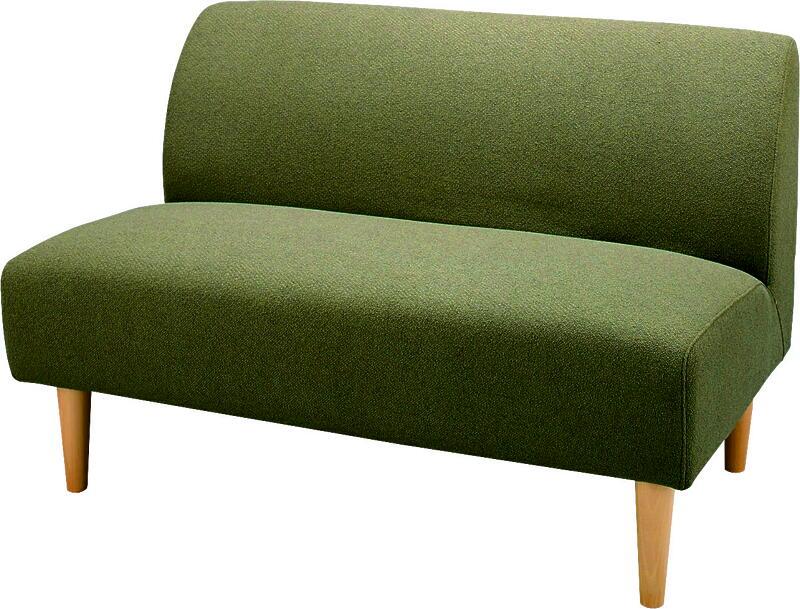 【送料無料】アームレス型2人用シンプルイス肘無しチェア天然杢ナチュラル脚二人用椅子モダン食卓チェアダイニング椅子カジュアル2人掛け椅子カバーが外せる2人掛けラブソファー北欧調カントリー緑色グリーンみどりミドリ手触りの良いポリエステル布張りコンパクト省スペース
