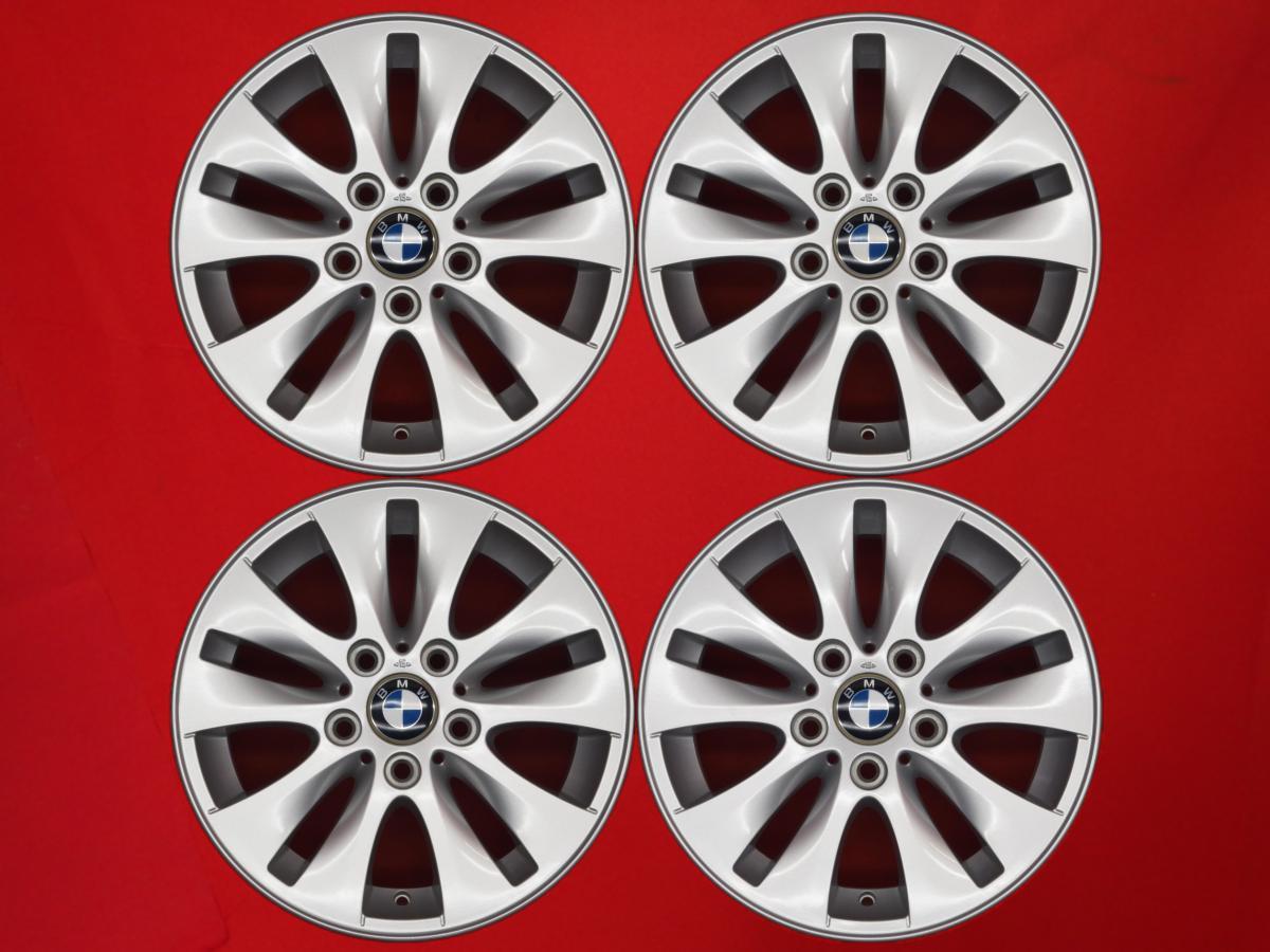 aa 中古 ホイール 値下げ 16インチ 4本セット BMW 1シリーズ E87 純正Vスポーク ご予約品 銀色 スタイリング229 5 系 シルバー +42 6.5Jx16 120