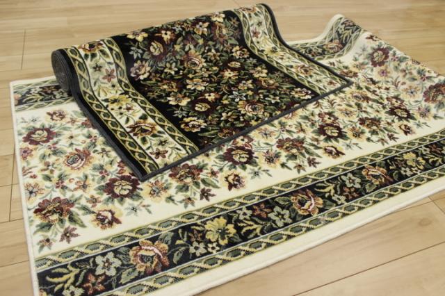 日本製高級デザイン廊下敷きカーペット/絨毯 【ティアレ】 幅67×長さ640cm